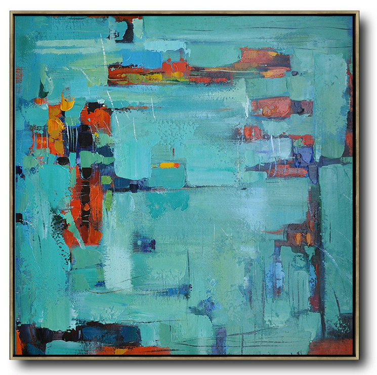 Large Abstract Painting On Canvas,Oversized Contemporary Art,Large Contemporary Art Canvas Painting,Green,Blue,Red.etc